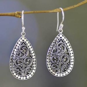 Brand New NOVICA Balinese Style Silver Earrings